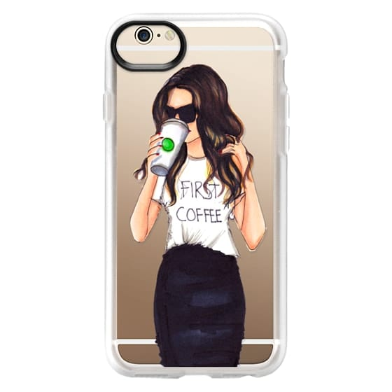 iPhone 6 Cases - Coffee First (Brunette)