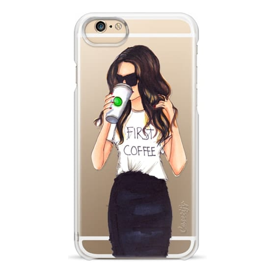 iPhone 4 Cases - Coffee First (Brunette)
