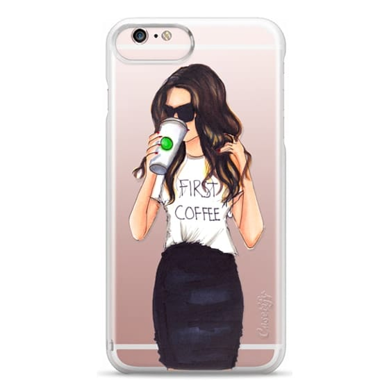 iPhone 6s Plus Cases - Coffee First (Brunette)