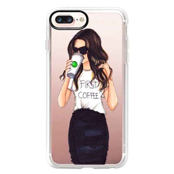 iPhone 7 Plus Cases - Coffee First (Brunette)