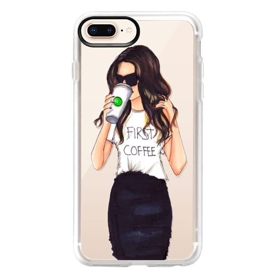 iPhone 8 Plus Cases - Coffee First (Brunette)