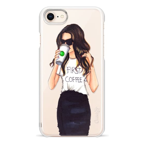 iPhone 8 Cases - Coffee First (Brunette)