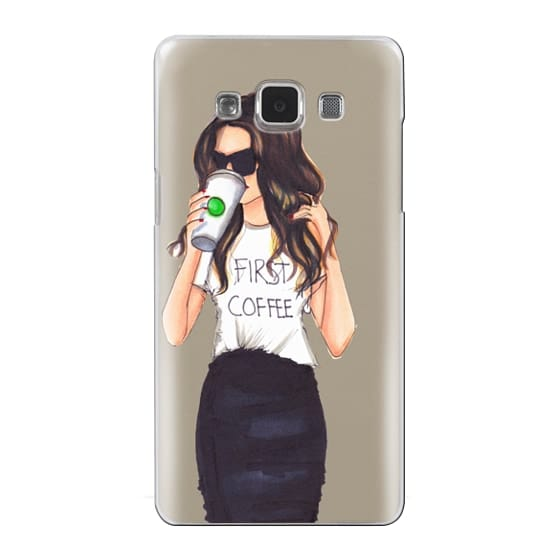Samsung Galaxy A5 Cases - Coffee First (Brunette)