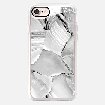 iPhone 7 Case Grey and Black Marble