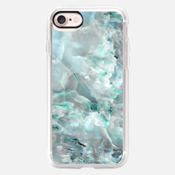 iPhone 7 Case Teal Onyx Marble