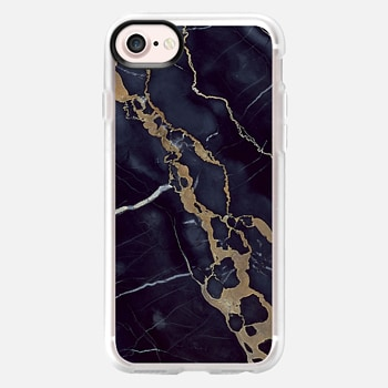 iPhone 7 Case Navy Shatter Marble