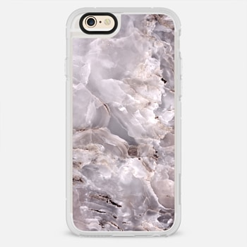 iPhone 6 Case Grey Purple Marble