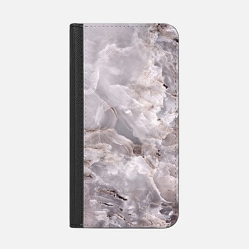 iPhone ウォレットケース -  Grey Purple Marble