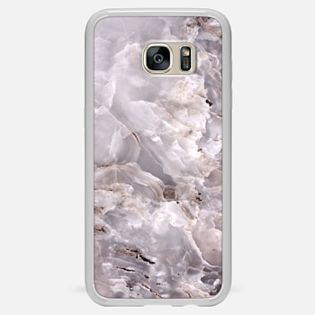 Samsung Galaxy S7 Edge ケース Grey Purple Marble