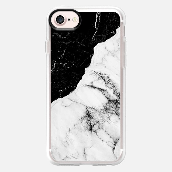 Black and White Contrast Marble - Wallet Case