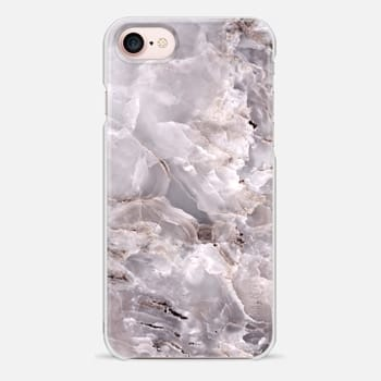 iPhone 7 Case Grey Purple Marble
