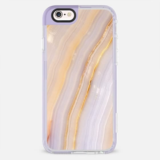 Purple and Gold Stripe Marble -