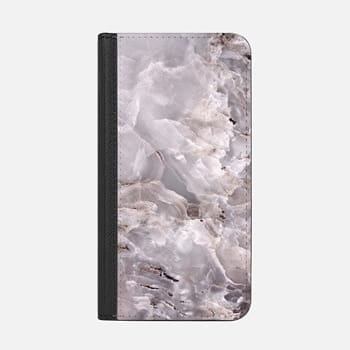 iPhone Wallet Case -  Grey Purple Marble