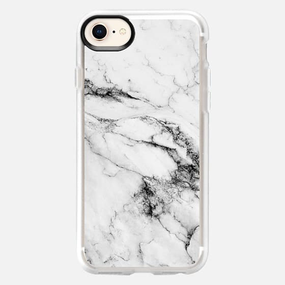 Black and White Marble - Snap Case