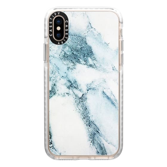 iPhone XS Cases - Oceanic Blue Green Marble