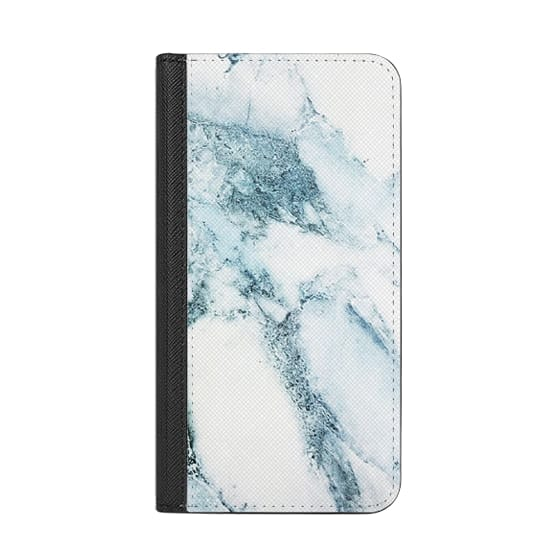 iPhone X Cases - Oceanic Blue Green Marble