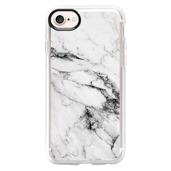 iPhone 7 Cases - Black and White Marble