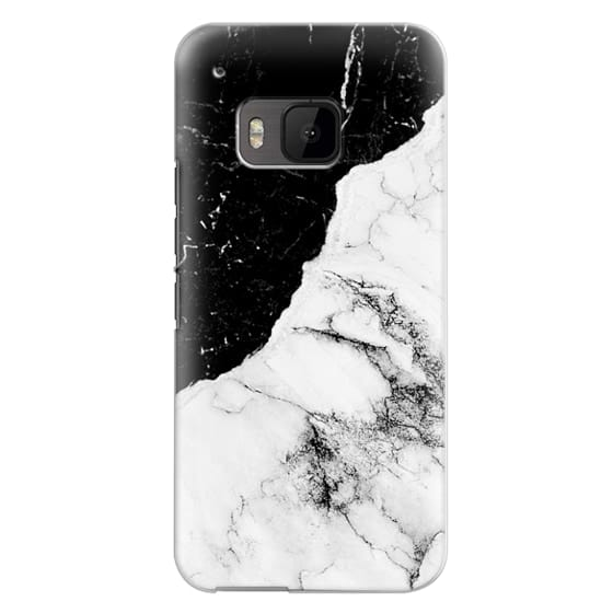 Htc One M9 Cases - Black and White Contrast Marble