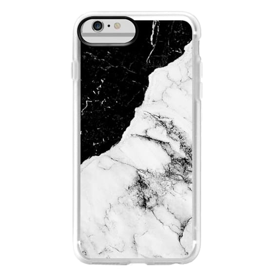 iPhone 6 Plus Cases - Black and White Contrast Marble