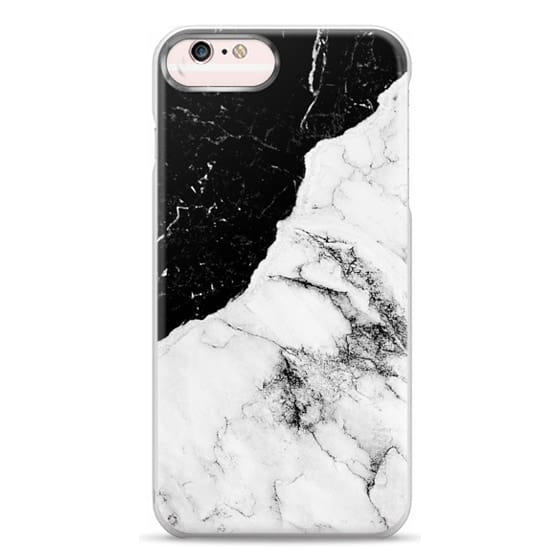 iPhone 6s Plus Cases - Black and White Contrast Marble