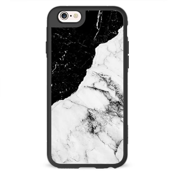 iPhone 4 Cases - Black and White Contrast Marble