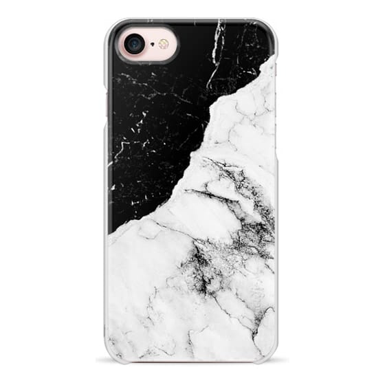 iPhone 7 Cases - Black and White Contrast Marble