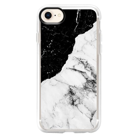 iPhone 8 Cases - Black and White Contrast Marble