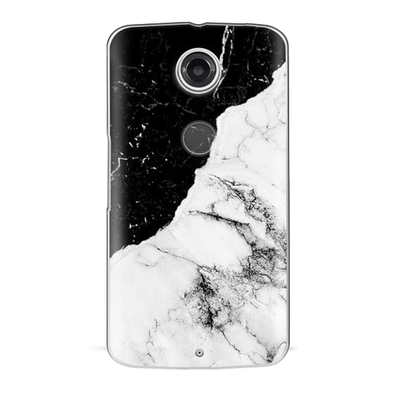 Nexus 6 Cases - Black and White Contrast Marble