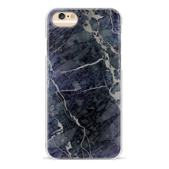 iPhone 6 Cases - Blue Stone Marble