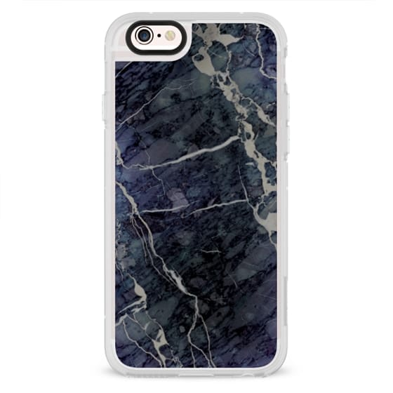 iPhone 4 Cases - Blue Stone Marble