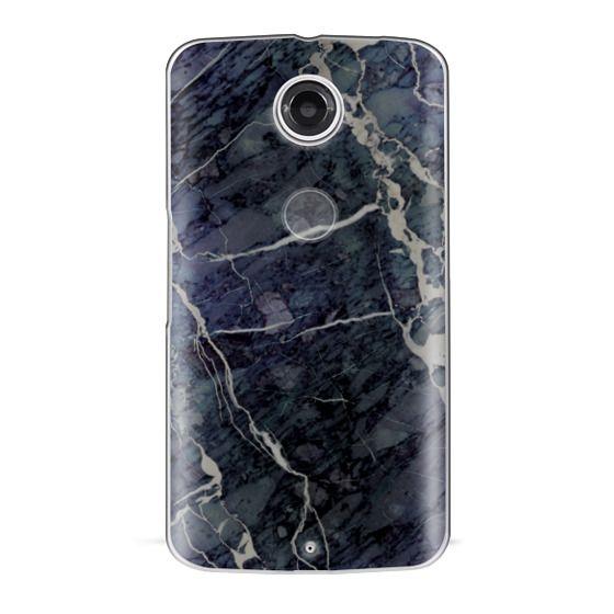 Nexus 6 Cases - Blue Stone Marble