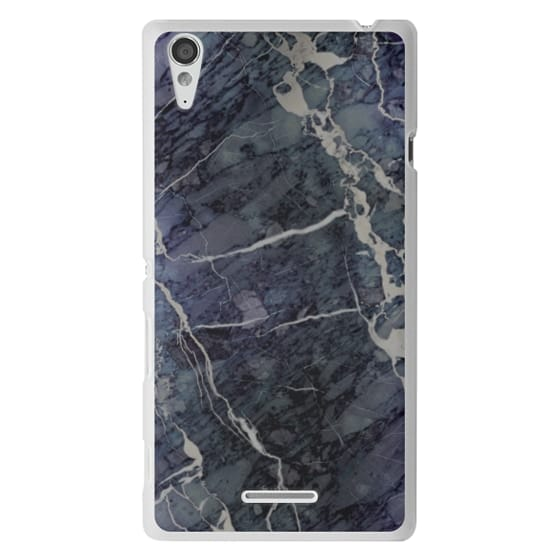 Sony T3 Cases - Blue Stone Marble