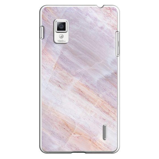 Optimus G Cases - Charoite Purple Marble Stone