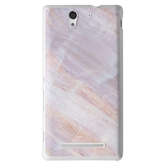 Sony C3 Cases - Charoite Purple Marble Stone