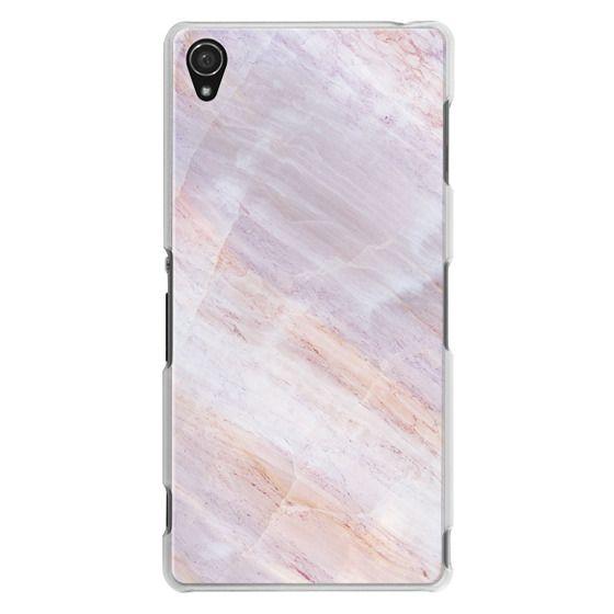 Sony Z3 Cases - Charoite Purple Marble Stone