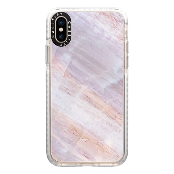 iPhone XS Cases - Charoite Purple Marble Stone