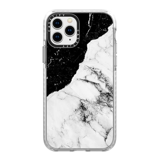 iPhone 11 Pro Cases - Black and White Contrast Marble