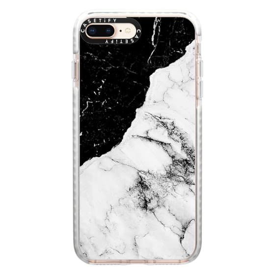 iPhone 8 Plus Cases - Black and White Contrast Marble