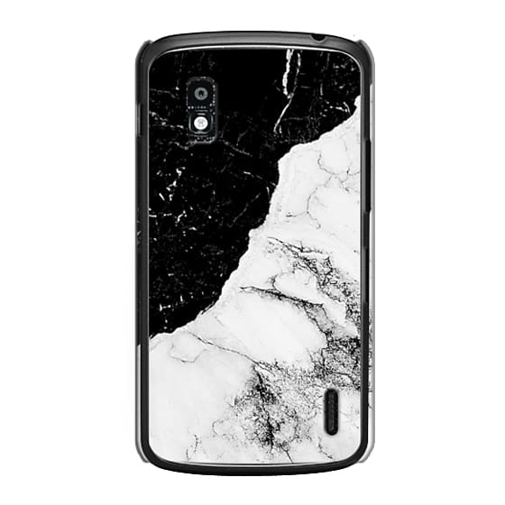 Nexus 4 Cases - Black and White Contrast Marble