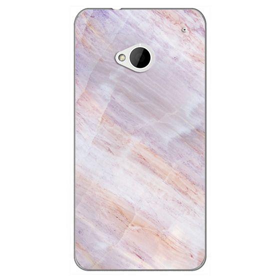 Htc One Cases - Charoite Purple Marble Stone
