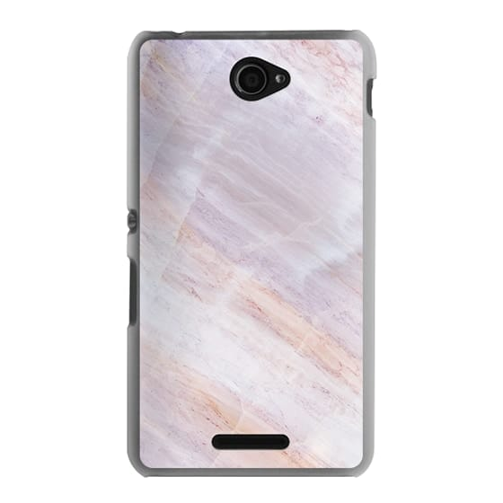 Sony E4 Cases - Charoite Purple Marble Stone