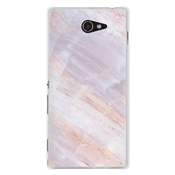 Sony M2 Cases - Charoite Purple Marble Stone