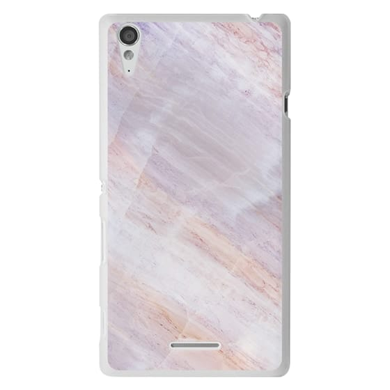 Sony T3 Cases - Charoite Purple Marble Stone