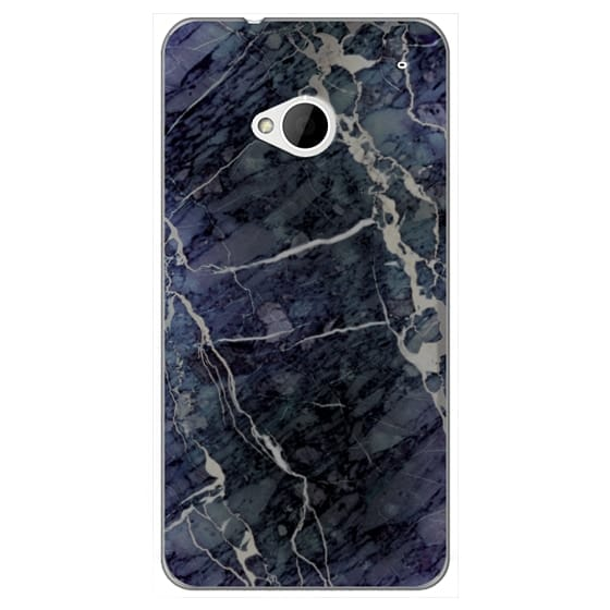 Htc One Cases - Blue Stone Marble