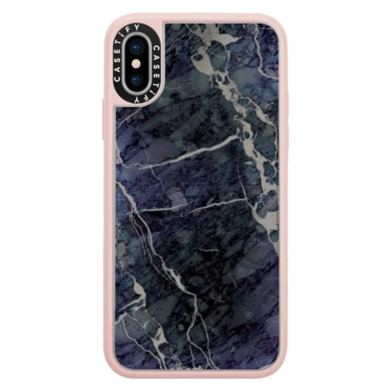 iPhone X Cases - Blue Stone Marble