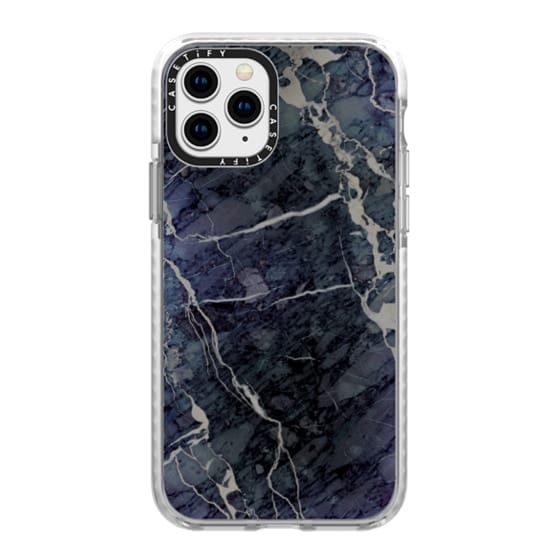 iPhone 11 Pro Cases - Blue Stone Marble