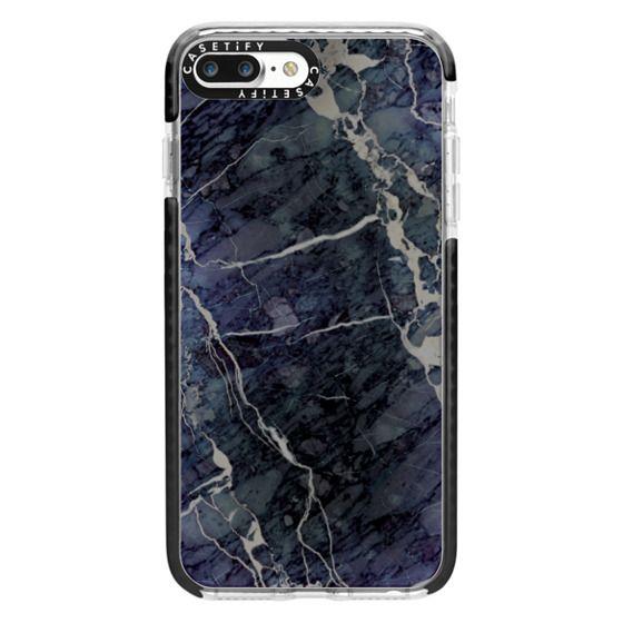 iPhone 7 Plus Cases - Blue Stone Marble