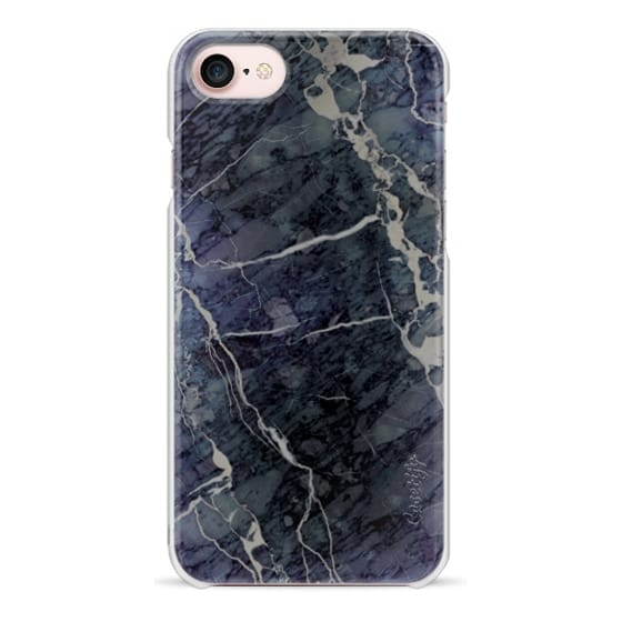 iPhone 7 Cases - Blue Stone Marble