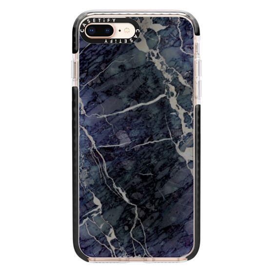iPhone 8 Plus Cases - Blue Stone Marble