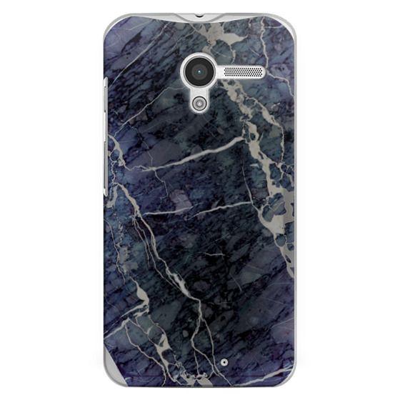 Moto X Cases - Blue Stone Marble